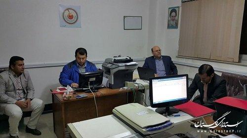 حضور فرماندار شهرستان ترکمن در محل ثبت نام داوطلبین انتخابات  شوراهای شهر
