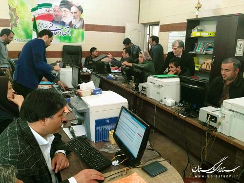 تصویری از ستادانتخابات شهرستان آق قلا