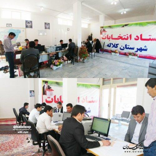 روند ثبت نام شوراهای شهرستان کلاله