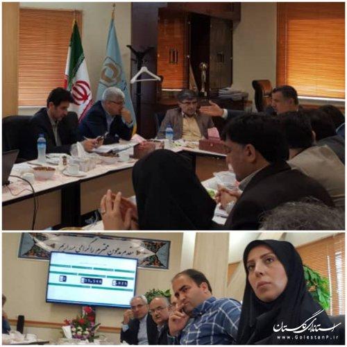 جلسه کارگروه نظارت و بازرسی مناطق سیل زده استان