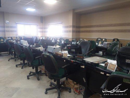 بازدید ریاست محترم کمیته فناوری اطلاعات ستاد انتخابات استان از سایت ثبت نام انتخابات شهرستان علی آباد